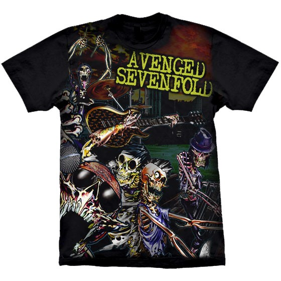 Camiseta - Avenged Sevenfold - Live in the LBC