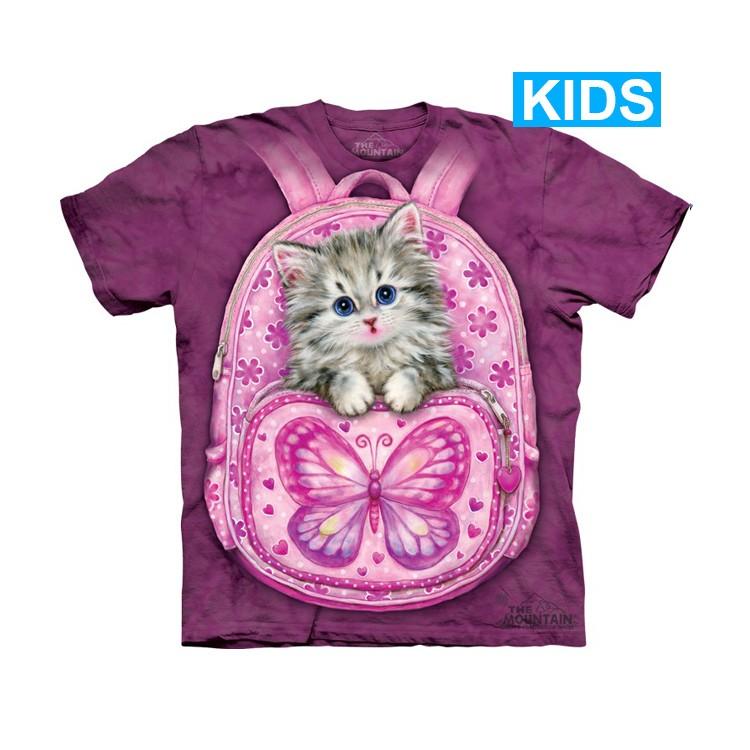 Camiseta - The Mountain - Backpack Kitty (infantil)