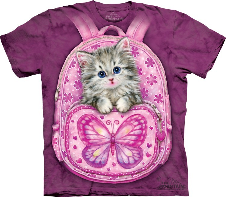Camiseta - The Mountain - Backpack Kitty