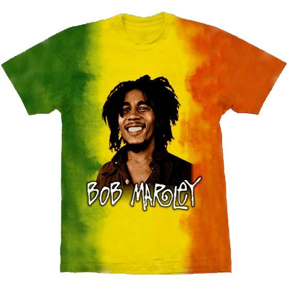 Camiseta - Bob Marley - Rasta Colors